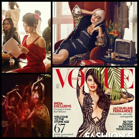 Sultry, Sizzling and very much in Vogue: Jacqueline Fernandez on the cover of Vogue India.
