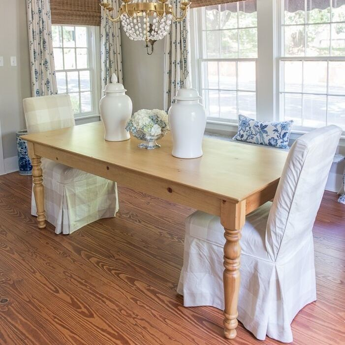 Farmhouse Dining Table | English Farmhouse Furniture Manufacturing | Ann  Bradshaw Kirchofer