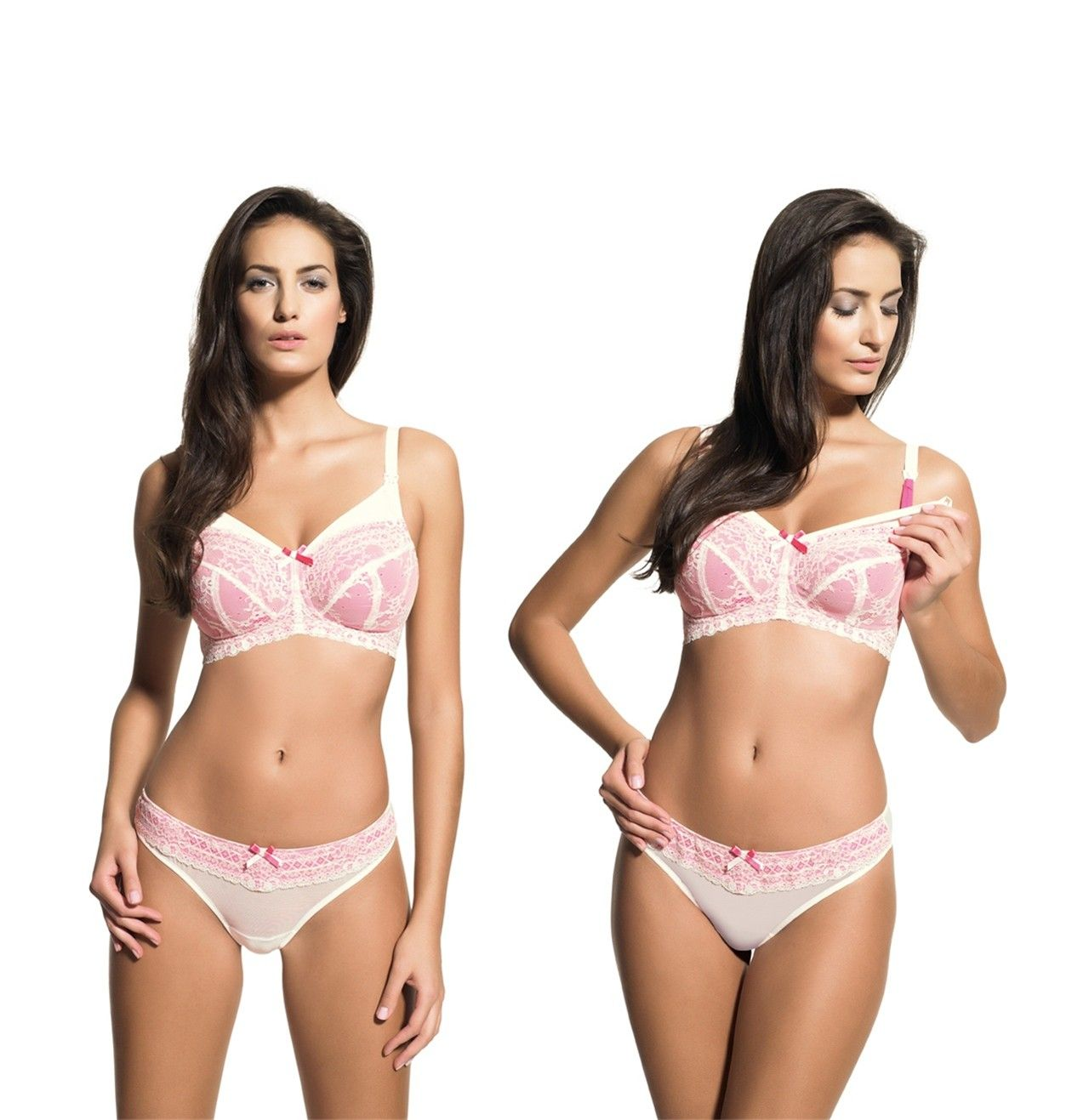 7271957223da7 We have the Panache Sophie nursing bra in 28 and 30 bands! This is a great  no-wire supportive style for new moms! The pink and ivory lace is really  cute