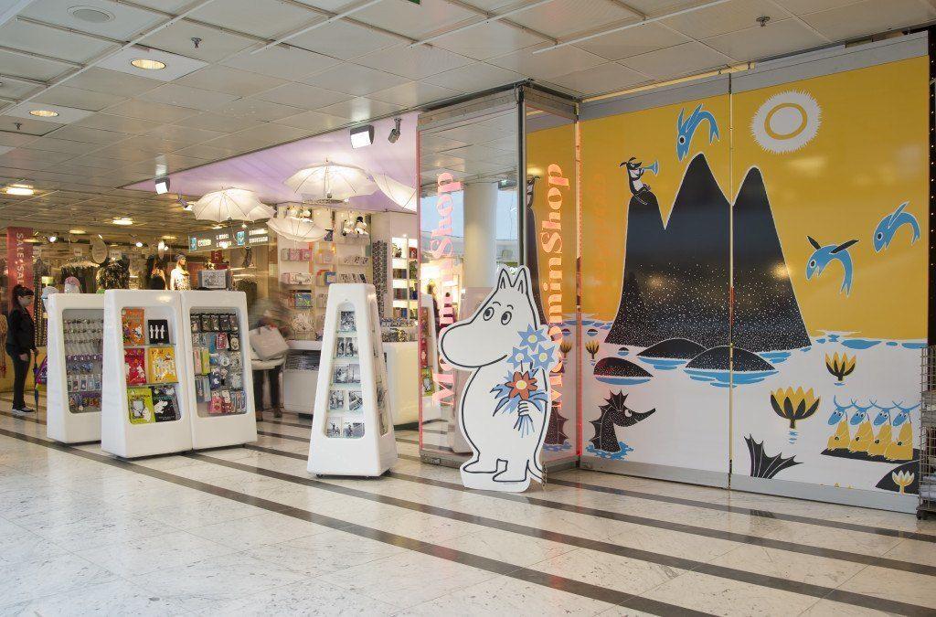 the moomin shop in Forum, Helsinki