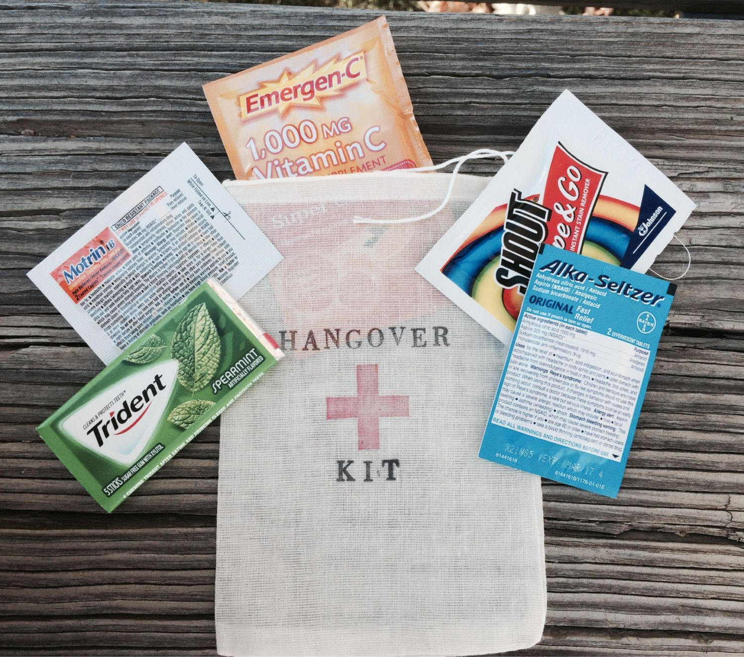 15 Complete Hangover Kits All Inclusive Bag Pre Made