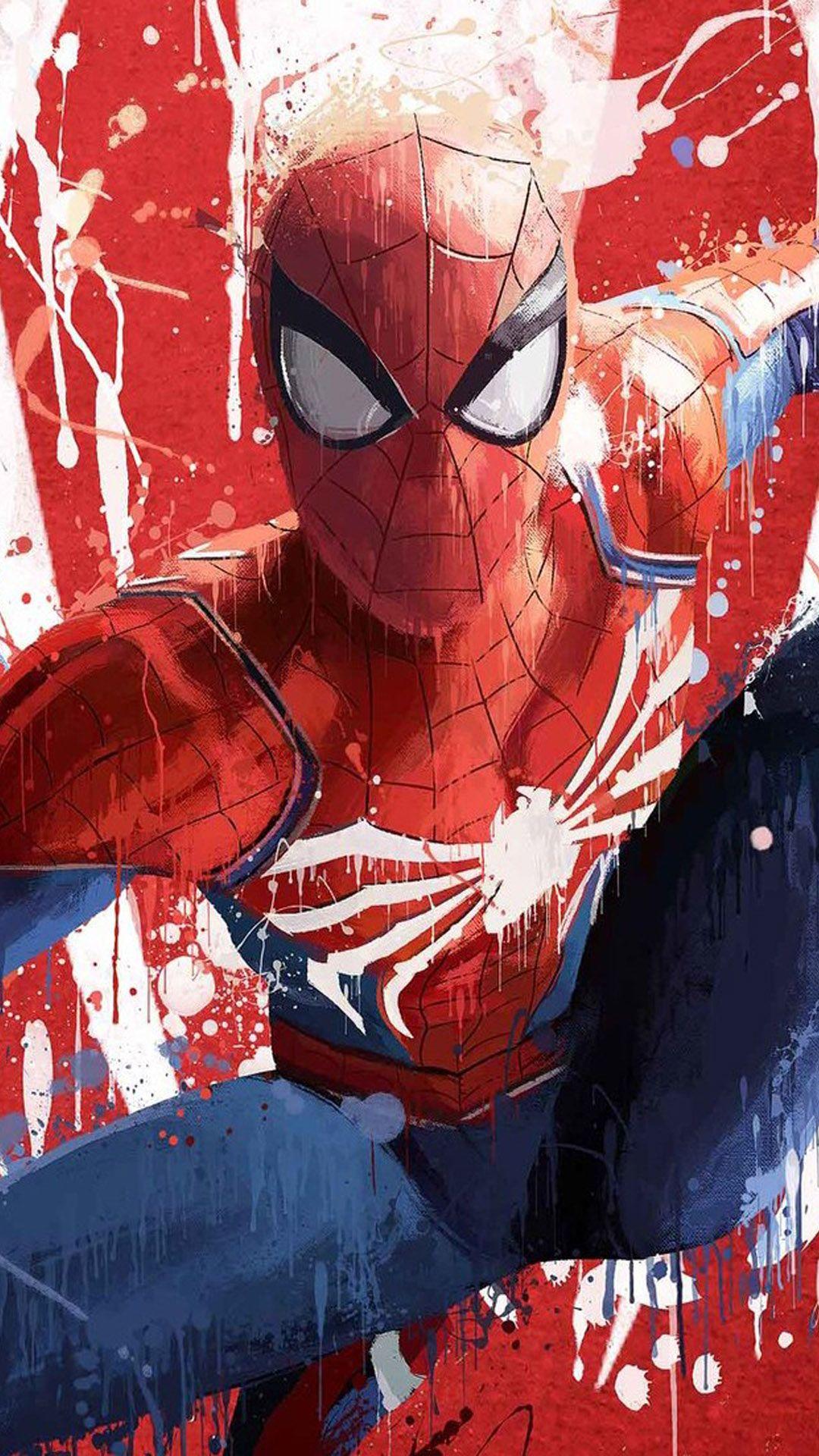 Spider Man Fan Artwork Hd Mobile Wallpaper Spiderman Artwork Spiderman Art Marvel Comics Wallpaper