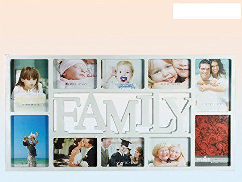 fotorahmen collage wei 10 fotos 6 fotos 10x15 und 4 fotos 13x18 cm 1631 maggiore family. Black Bedroom Furniture Sets. Home Design Ideas