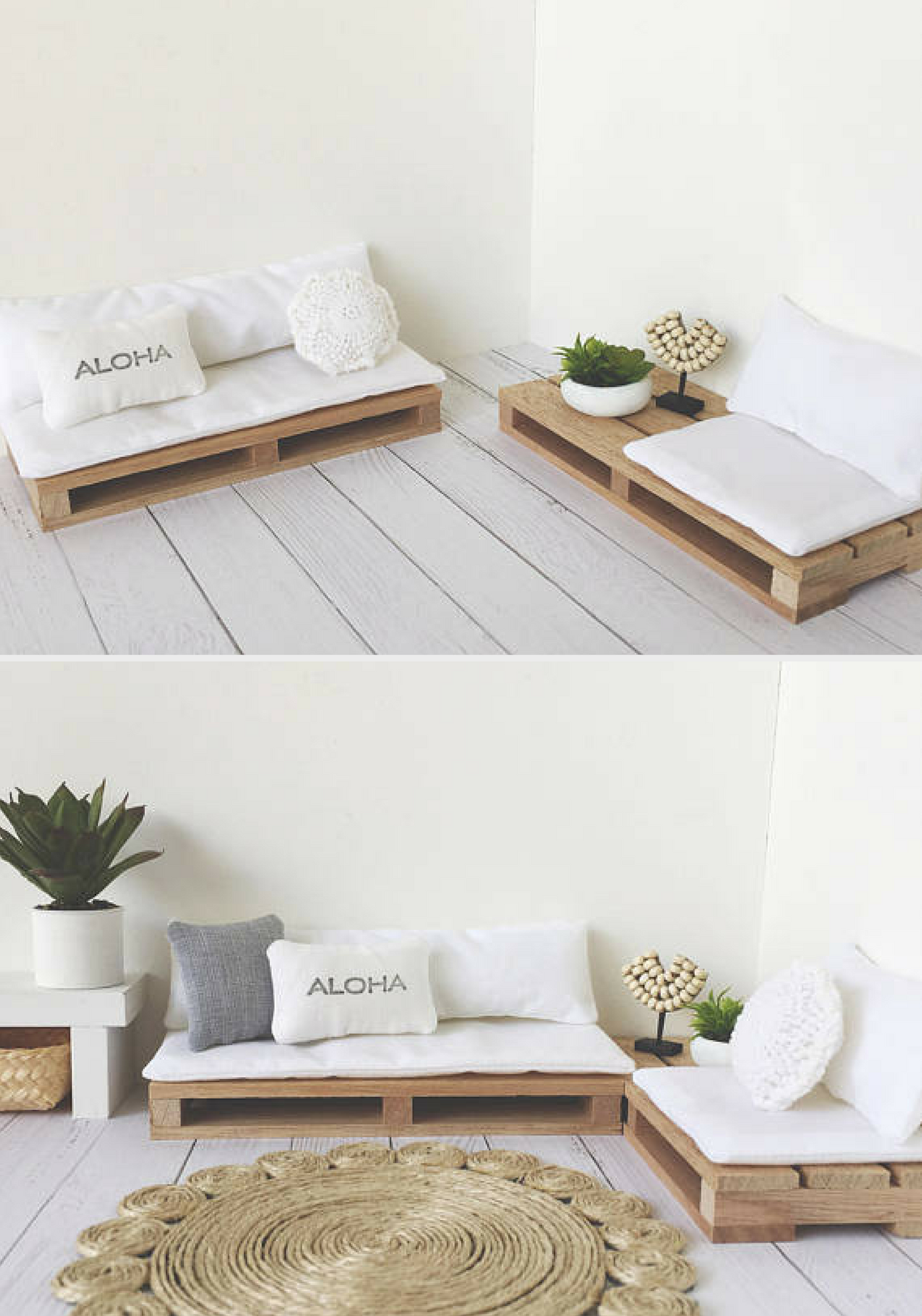 Miniature Pallet Couch Home Decor Diy Living Room Furniture