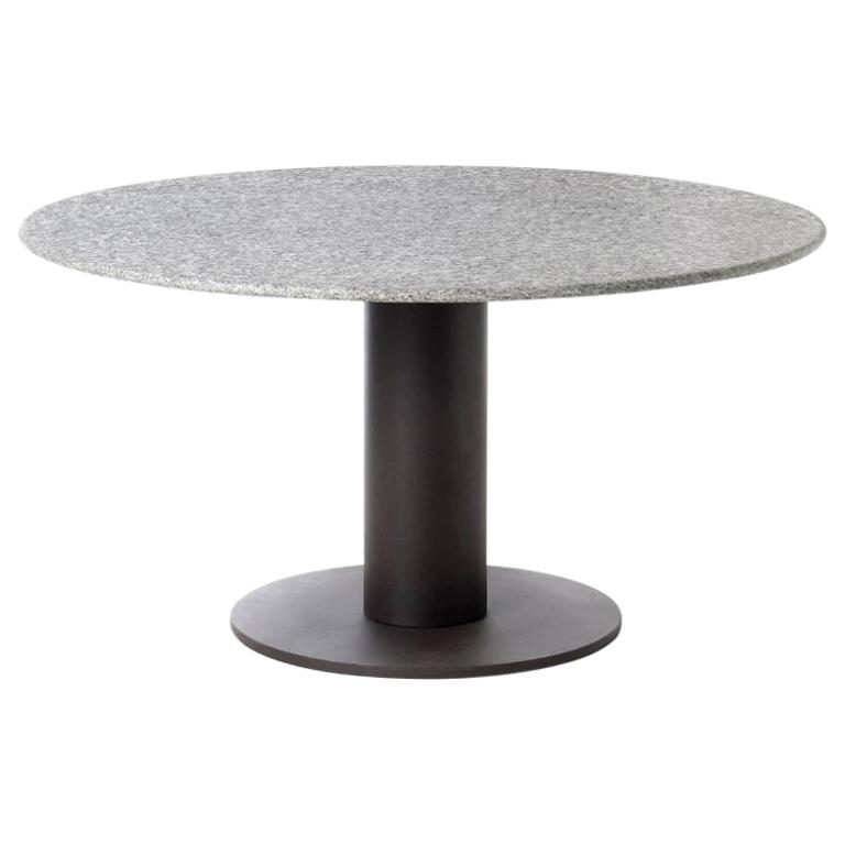 Roda Platter 314 Round Outdoor Stone Top Dining Table Dining