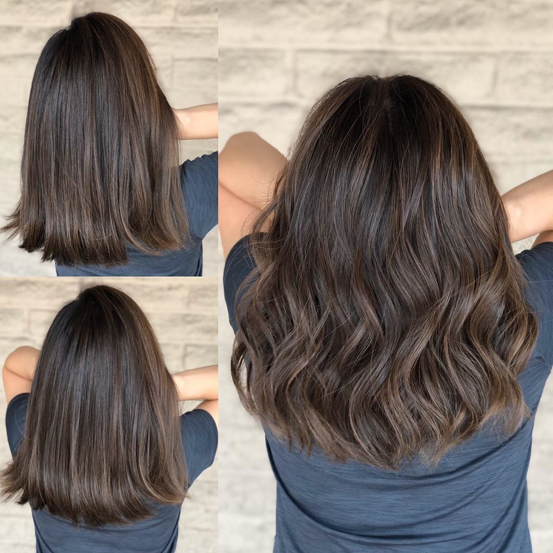 "Los Angeles stylist  color/cut on Instagram: ""From dark brown to Subtle natural brunette ❤️❤️ @trusshair  More details in my IG story  Cut and color by @andrewlovescolor…"""