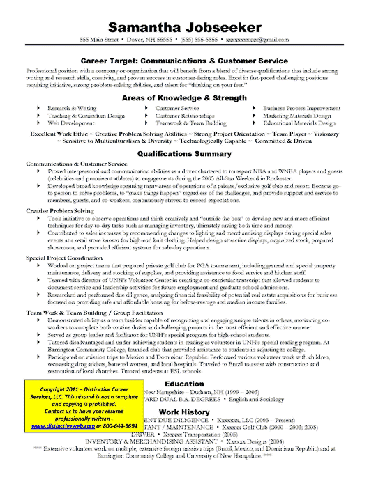 Images Targeted Resume Career And Curriculum Vitae Sample