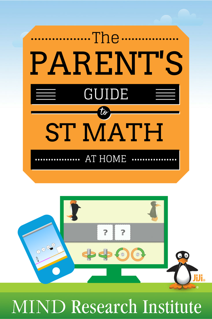 Parent's guide to using ST Math at home with your children.