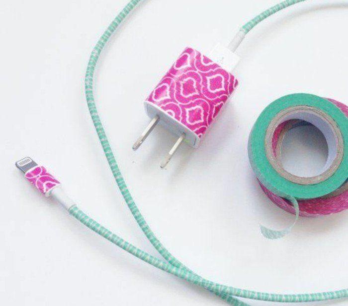 que faire avec du masking tape 72 id es diy trop. Black Bedroom Furniture Sets. Home Design Ideas