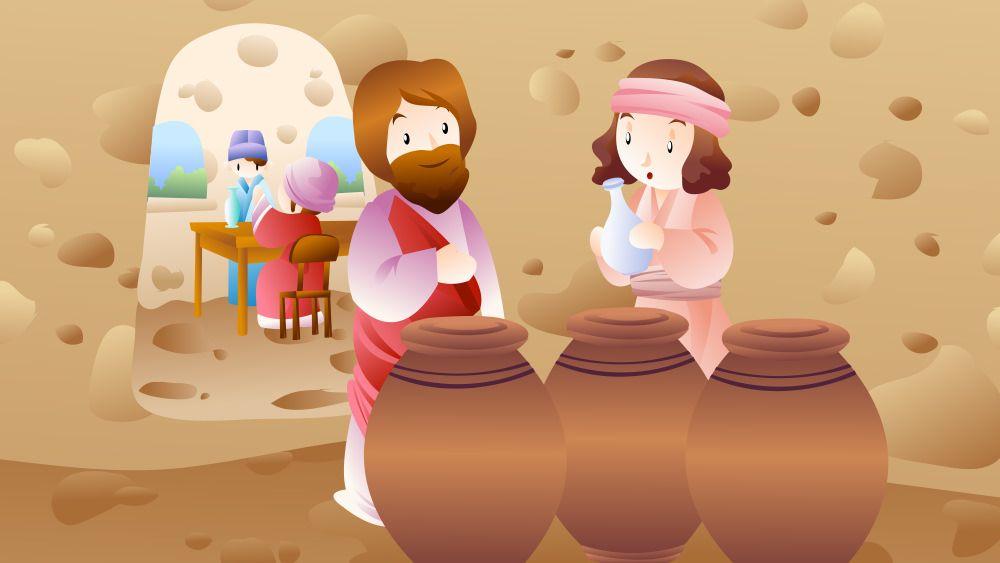 Leccion 7 El Primer Milagro De Jesus Herencia Milagros De Jesus Juegos De La Biblia Actividades De La Escuela Dominical