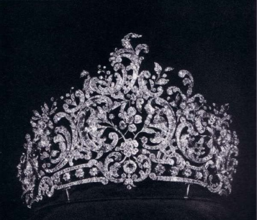 rococo diamond tiara, formerly property of the royal family of württemberg.