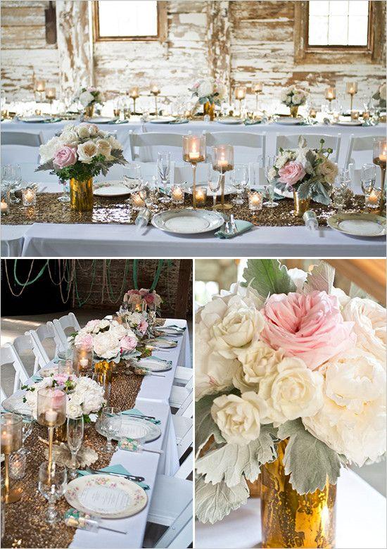 Vintage Glam Farm Wedding Table Decor For Weddings