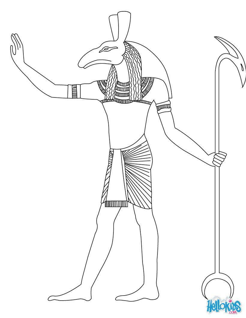Seth Egyptian Goddess Gods Coloring Page Egipt Kolorowanka Wzory