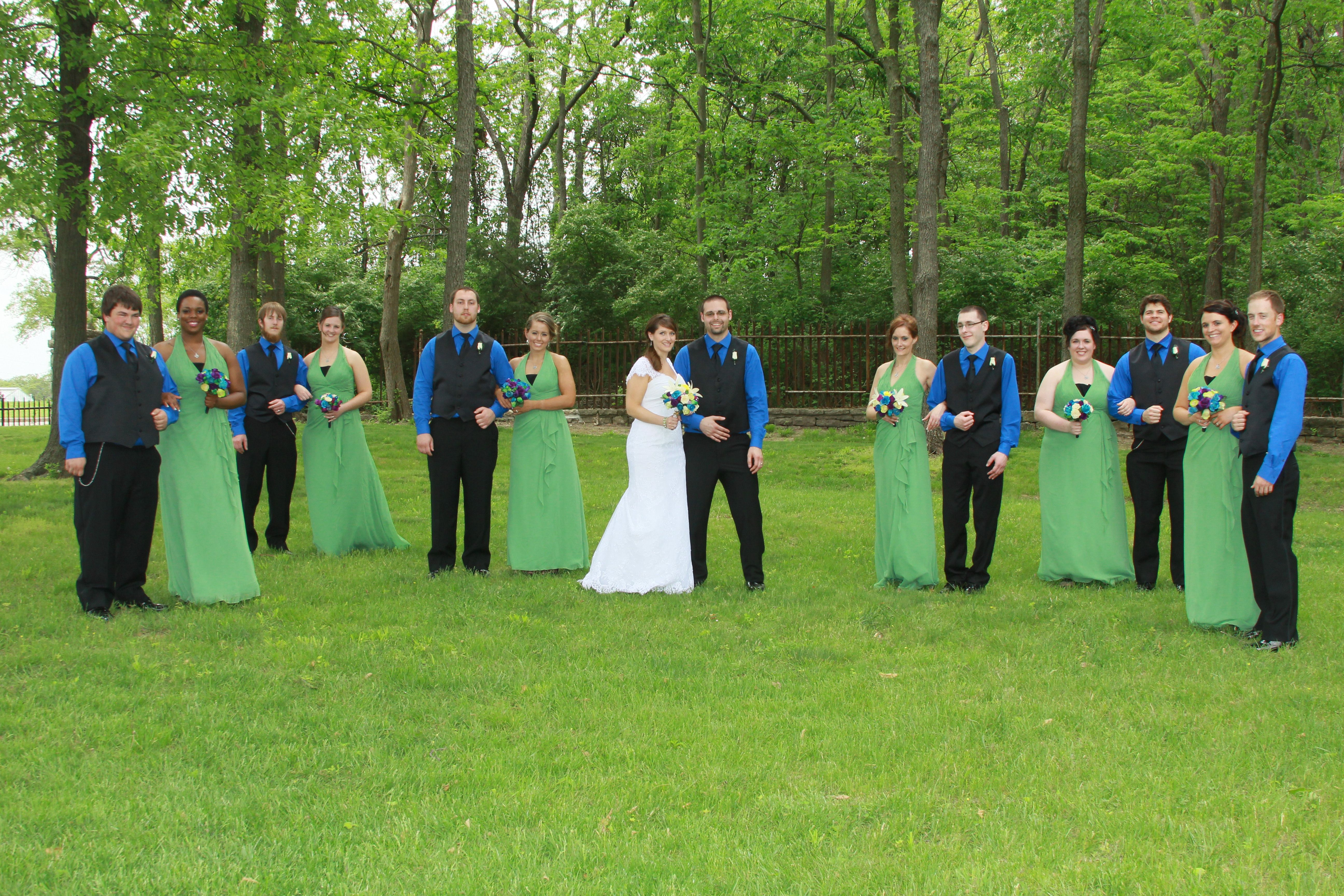 Blue and green wedding colors bridal party my wedding pinterest