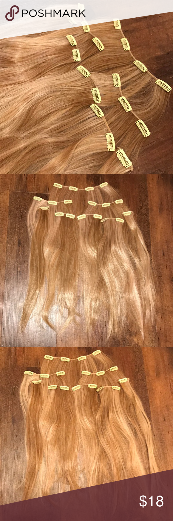8 Piece Synthetic Hair Extensions 14 This 8 Piece Synthetic Clip On