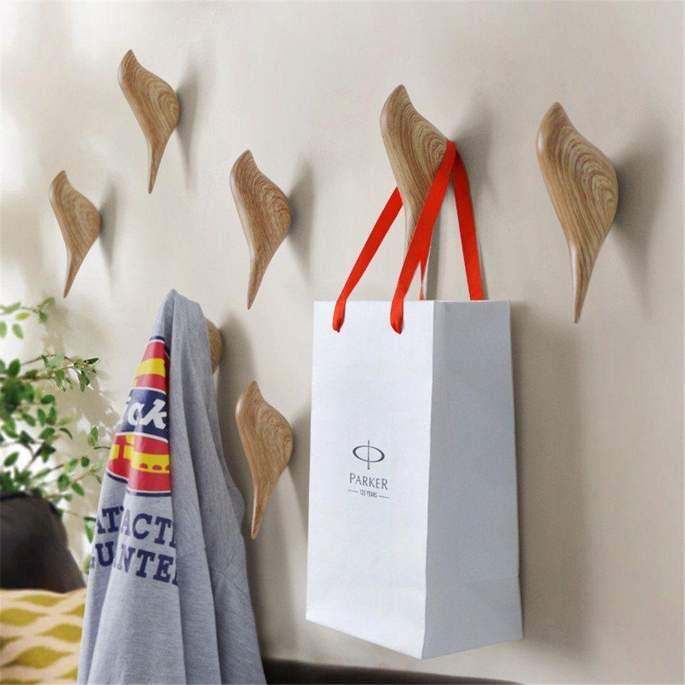 Apsoonsell Vogel Kleiderhaken Wand Haken Wand Dekoration Mantelhaken 2pcs Holz Amazon De Küche Haushalt Mantelhaken Dekorative Haken Kleiderhaken