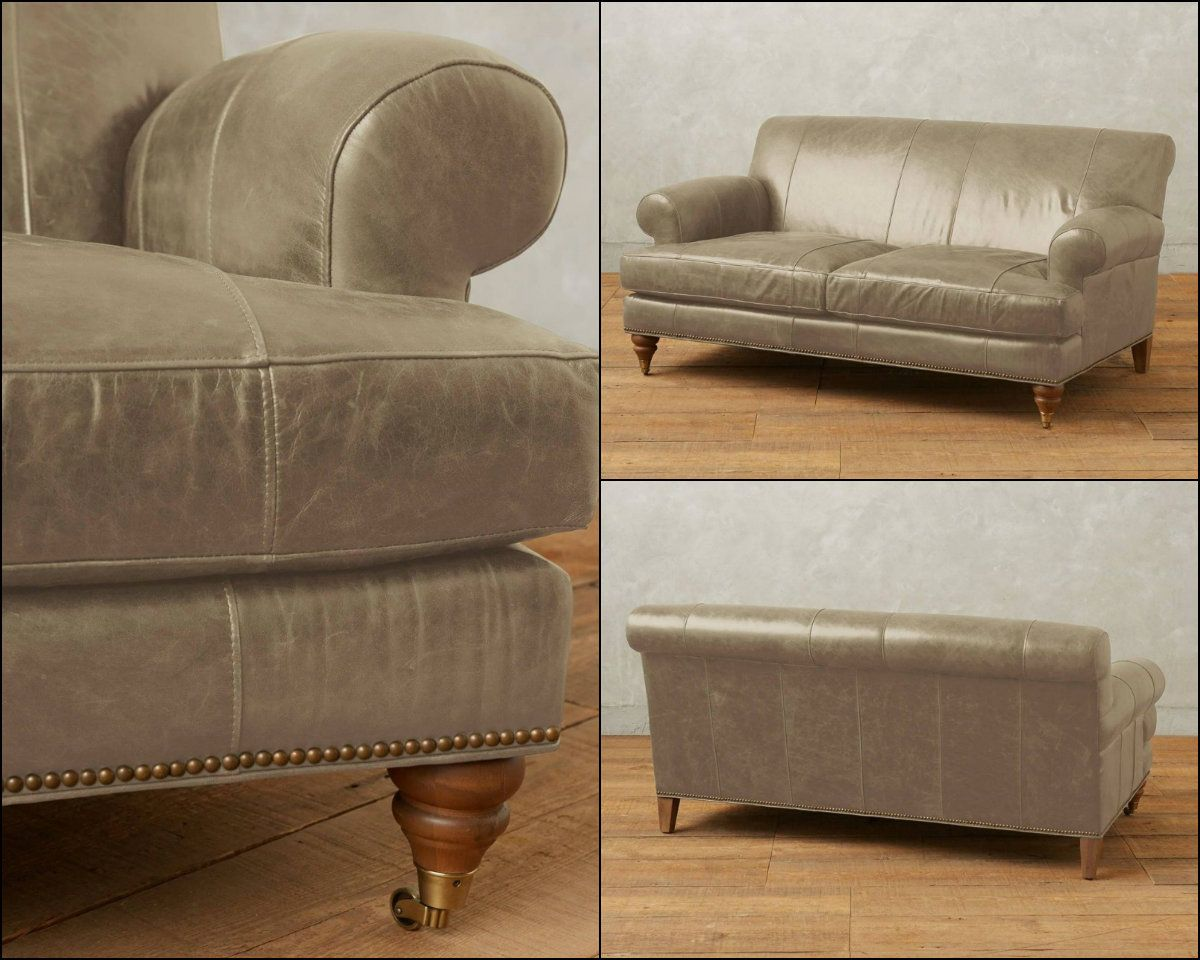 Now with timeless traces together with inspiring ideas of contemporary style and design, this unique luxurious tan brown loveseat features a lucrative recline and a deep, lavish seat. This perfect for your living room. Features leather upholstery, removable spring down cushions, spring suspension seat construction for comfort and durability, Kiln-dried oak wood frame, three removable castor legs. Handcrafted in the USA.