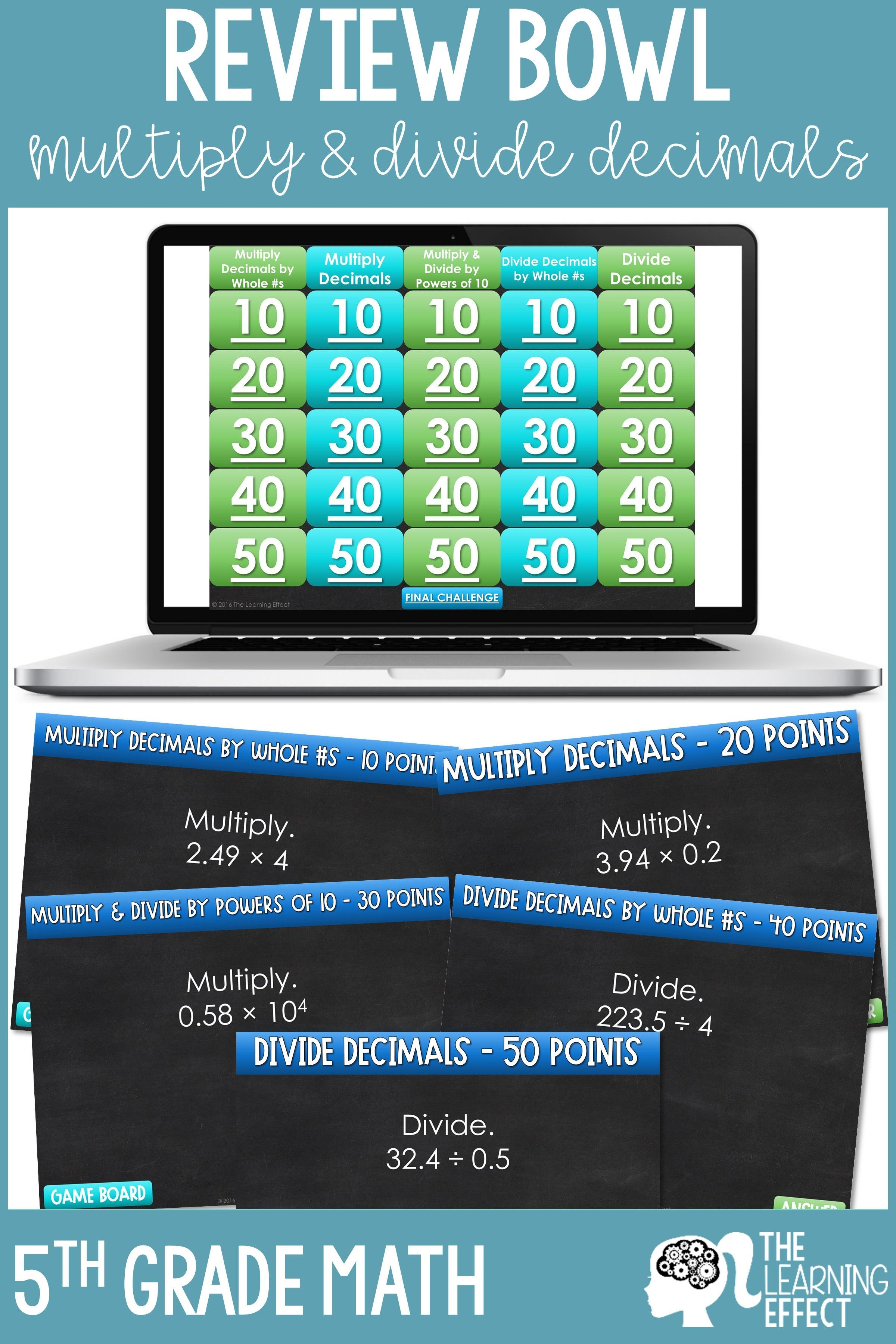 Multiply And Divide Decimals Game Show