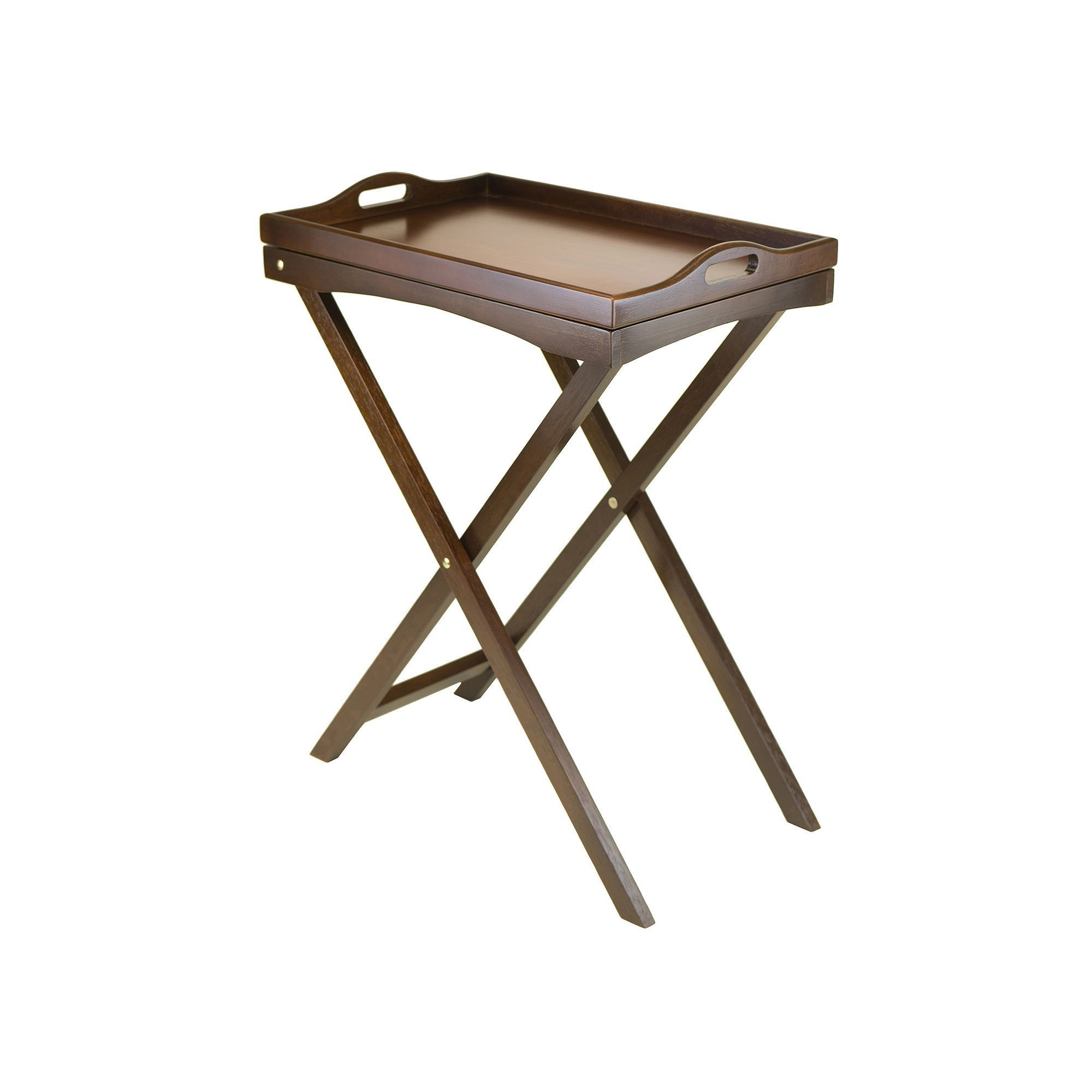 Winsome devon butler tv tray brown tv trays trays and products winsome devon butler tv tray brown geotapseo Images
