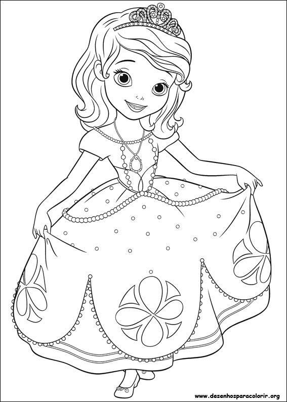 Desenho Para Imprimir Princesa Sofia Para Colorir Desenho Da