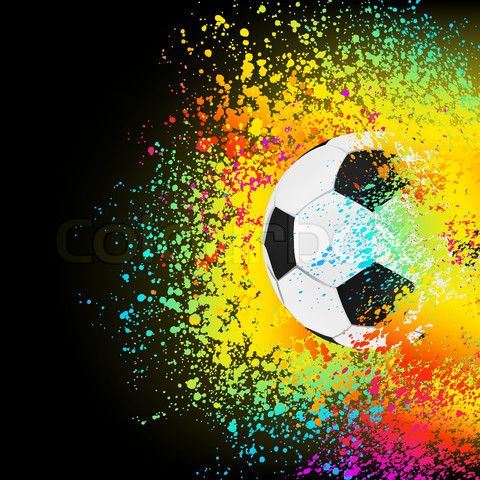 Vector Of Colorful Abstract Background With A Soccer Ball Eps 8 Vector File Included Soccer Ball Soccer Art Soccer Backgrounds