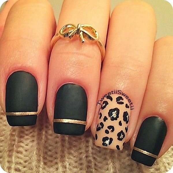Tumblr Nails Coffinpurple Nails Coffinnude Nails With Goldblack