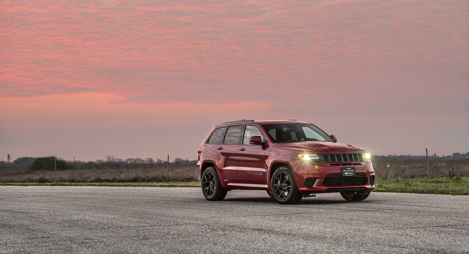 Hennessey Didn T Waste Any Time Making A 850 Hp Jeep Grand Cherokee Trackhawk Jeep Grand Cherokee Hennessey Jeep