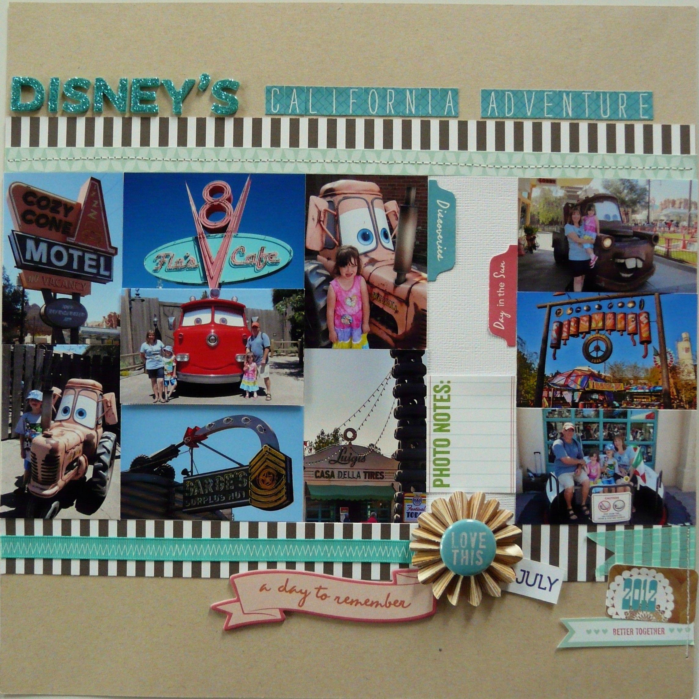 Scrapbook ideas adventure - Cars Land Disney California Adventure Page 2 Of 2 Scrapbook Com