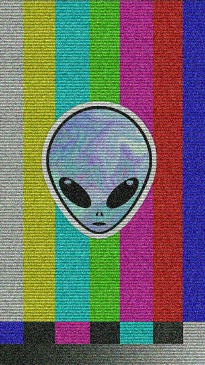 V H S ALIEN WALLPAPER AESTHETICS