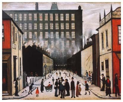 Behind the Painting: Street Scene by LS Lowry
