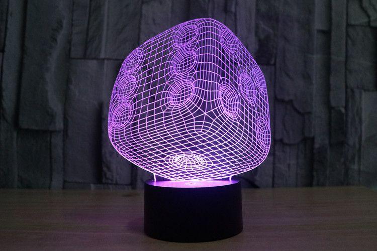 7 Colors Dice Optical Illusion Led Lamp Light Luminaria 3d Leds Acrilico