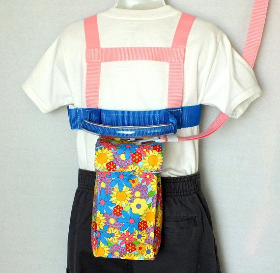 Child Safety Harness and Tether,Pink, yellow, and blue