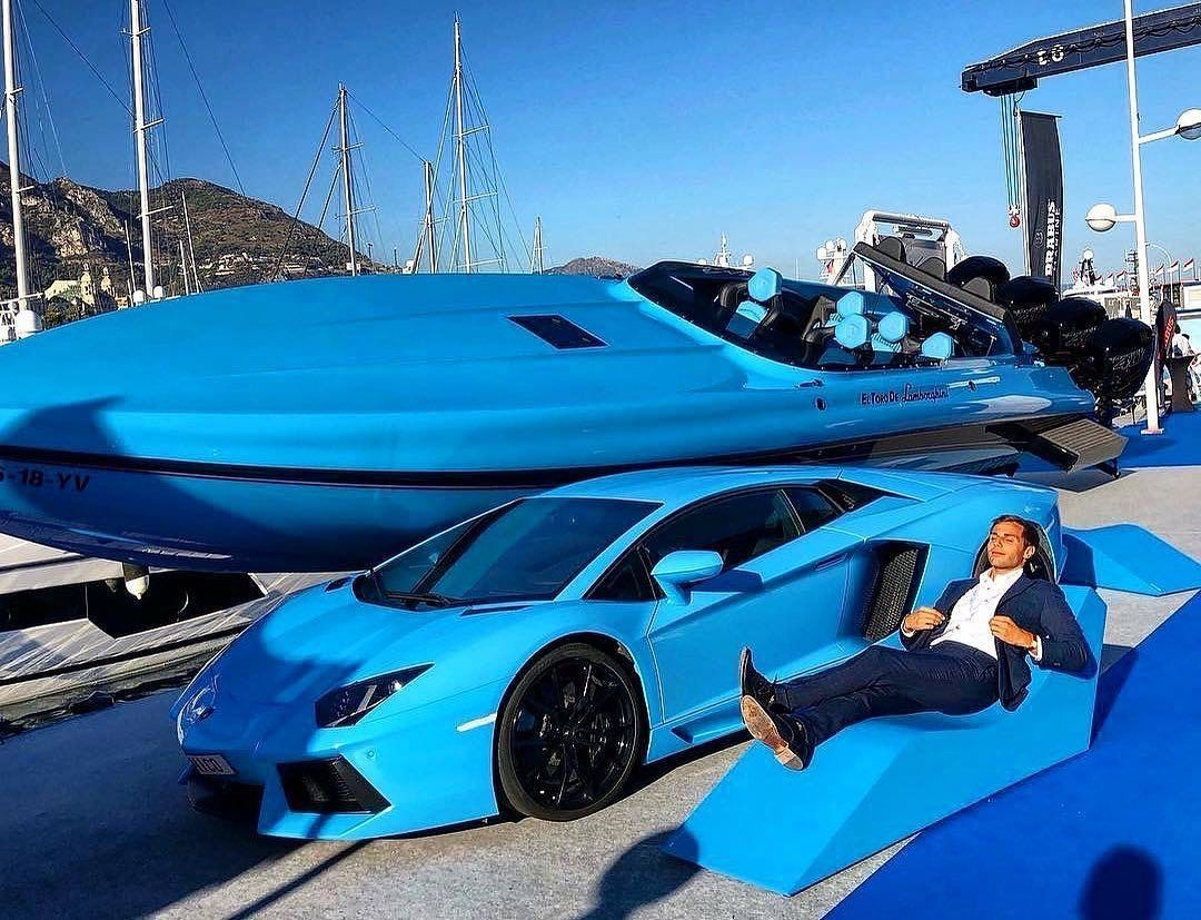 Yachts Cars Mansions On Instagram Lamborghini Or Boat I Like Lamborghini Help Us Grow The Community By Followi Sports Cars Luxury Boat Power Boats
