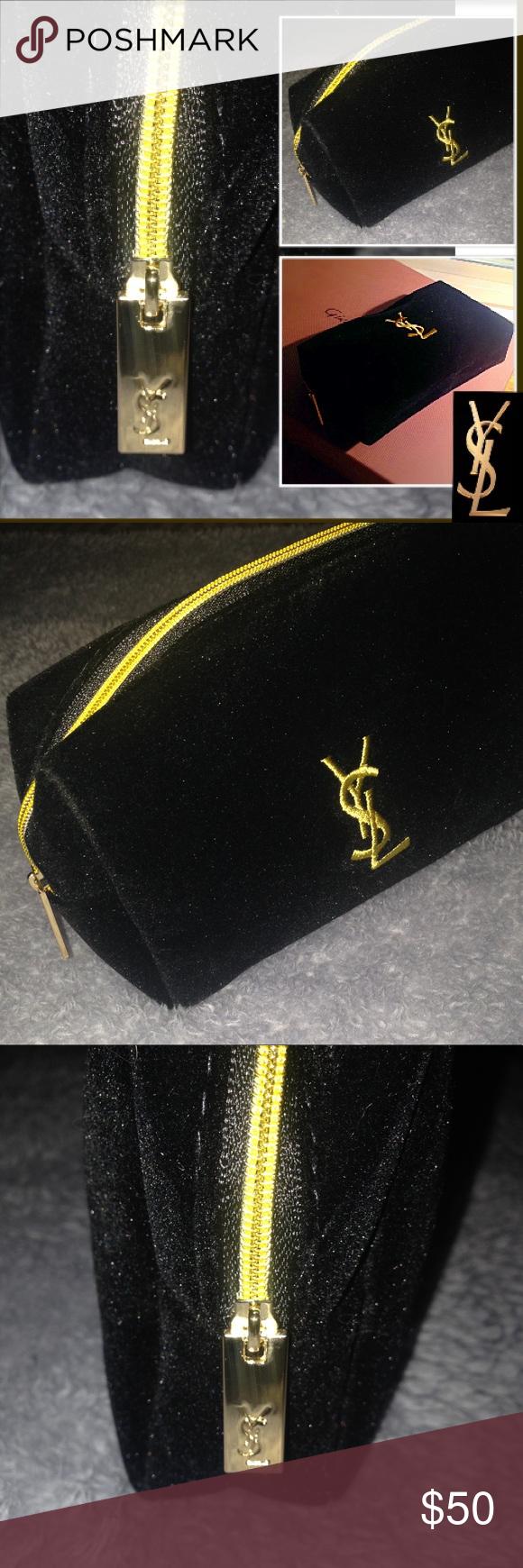 66a62760fa0b 🍋YSL VIP GIFT-Travel Makeup Bag Authentic VIP Yves Saint Laurent -Black  Velvet w  Gold Accents Travel Makeup Bag. Brand New Yves Saint Laurent Bags  ...