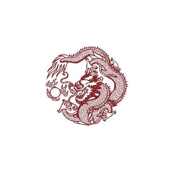 Téléchargement instantané de motif de broderie Machine DRAGON CHINOIS – #totto   – Tattoo