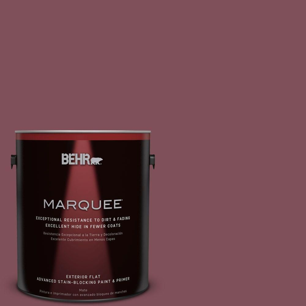 BEHR MARQUEE Home Decorators Collection 1 Gal. #hdc CL 02 Fine Burgundy  Flat Exterior Paint
