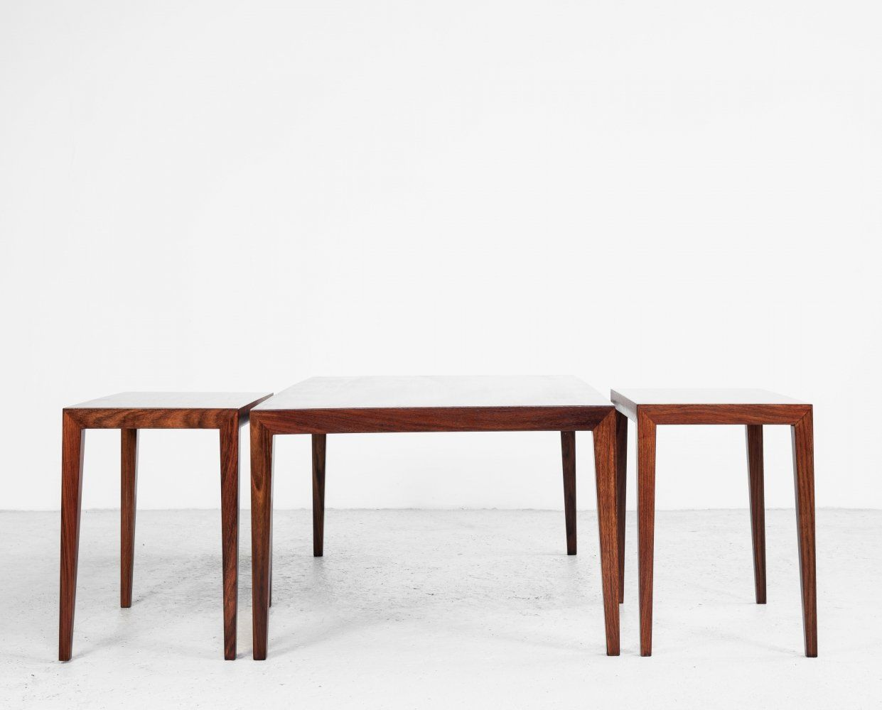 For Sale Danish Set Of 3 Sofa Tables In Rosewood By Severin