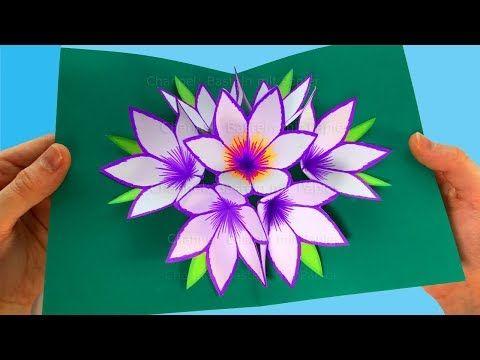 comment faire une carte pop up fleur bricolage en papier facile a faire id e bricolage. Black Bedroom Furniture Sets. Home Design Ideas