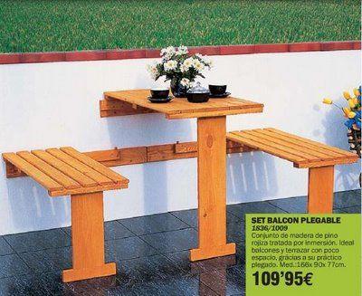 Muebles de exterior para balcones pequeños : x4duros.com   mesas ...