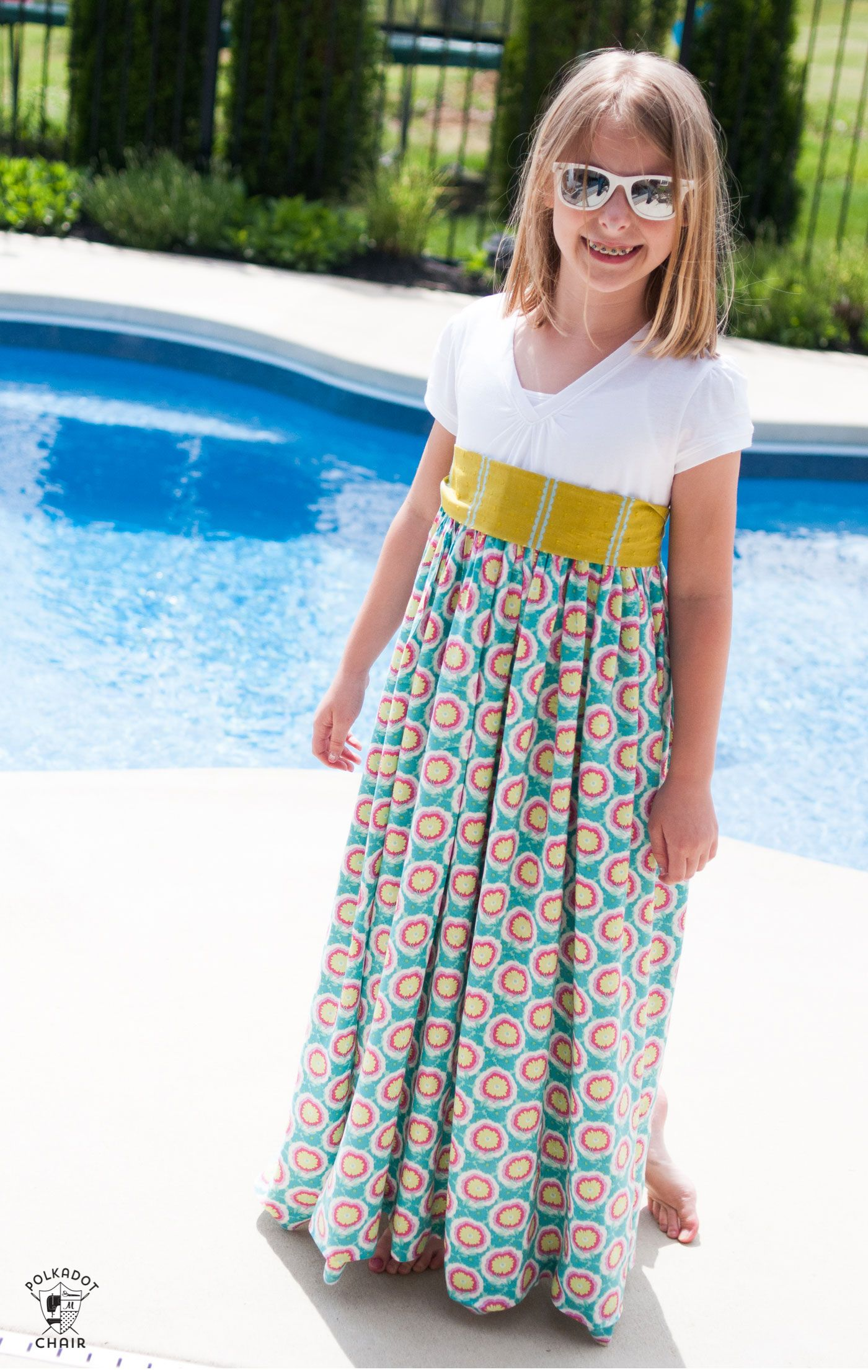 bb4f2a738 Upcycle a T-shirt into a girls maxi dress with this sewing tutorial. A