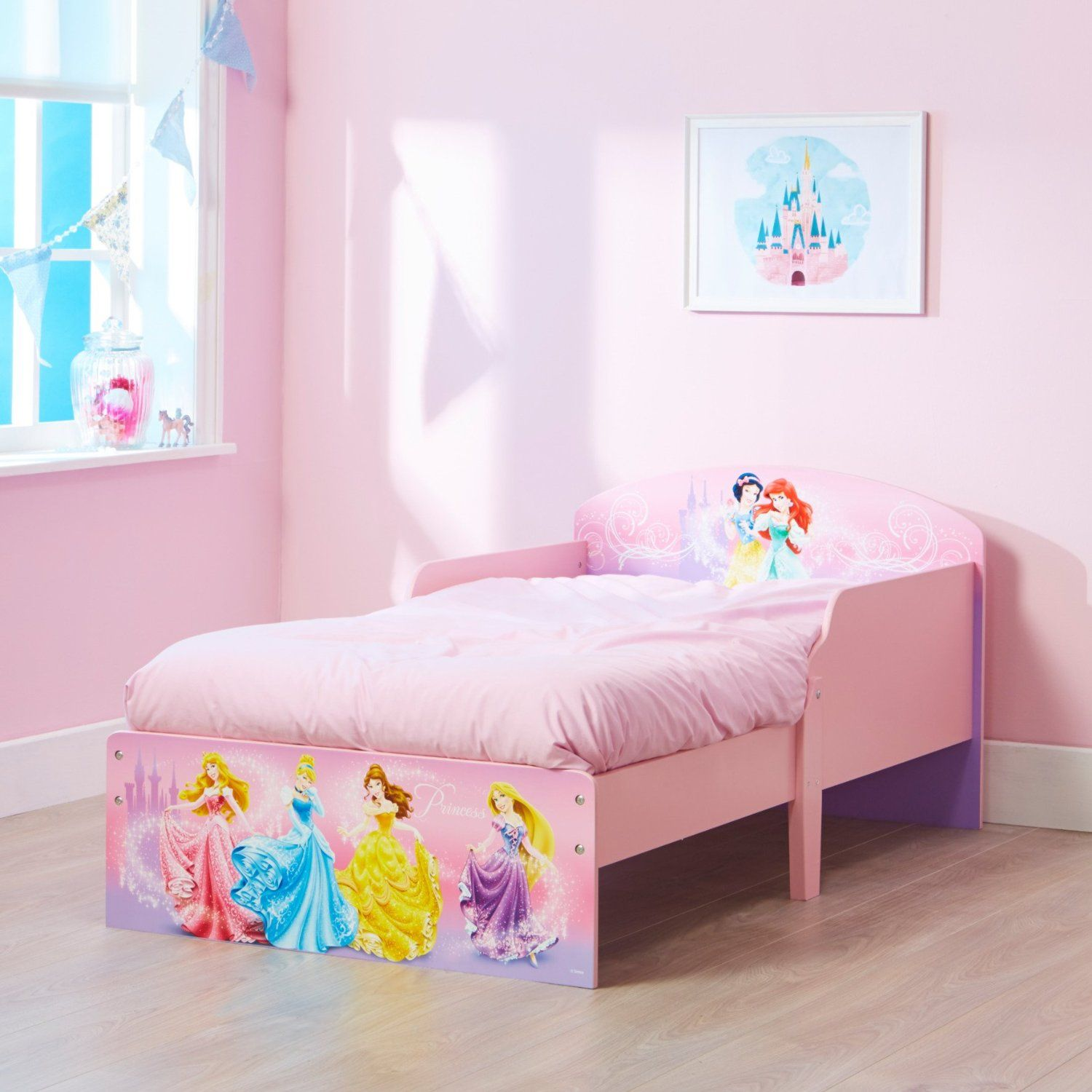 Princess Bedroom Uk Disney Princess Toddler Bed By Hellohome Amazoncouk Kitchen