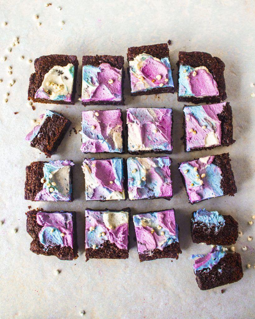 The Best Rainbow Vegan Brownies | Rainbow Nourishments