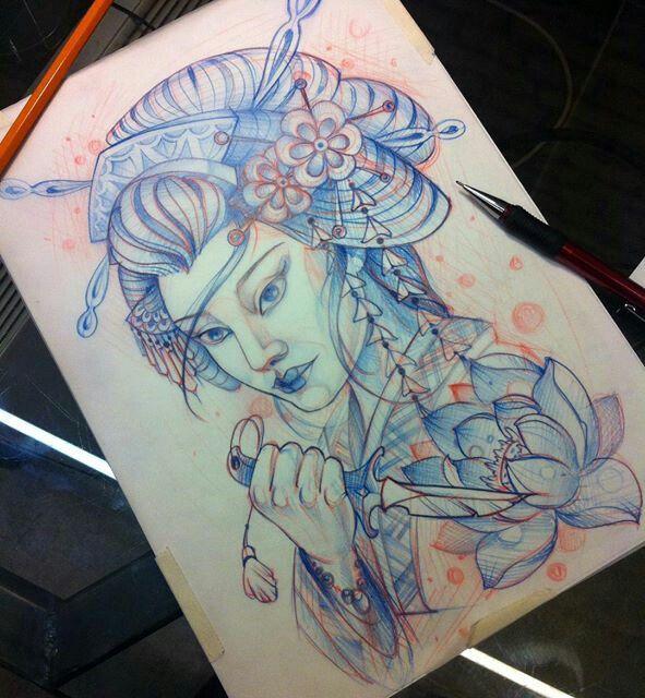 Tatuagens Gueixas Com Imagens Gueixa Desenho Tatuagem De