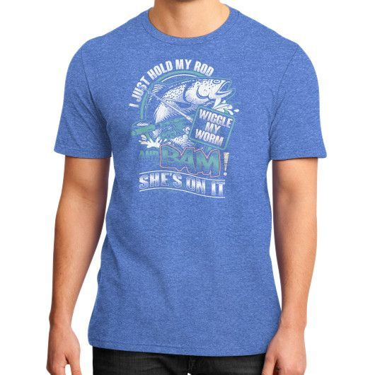 I just hold my rod District T-Shirt (on man)