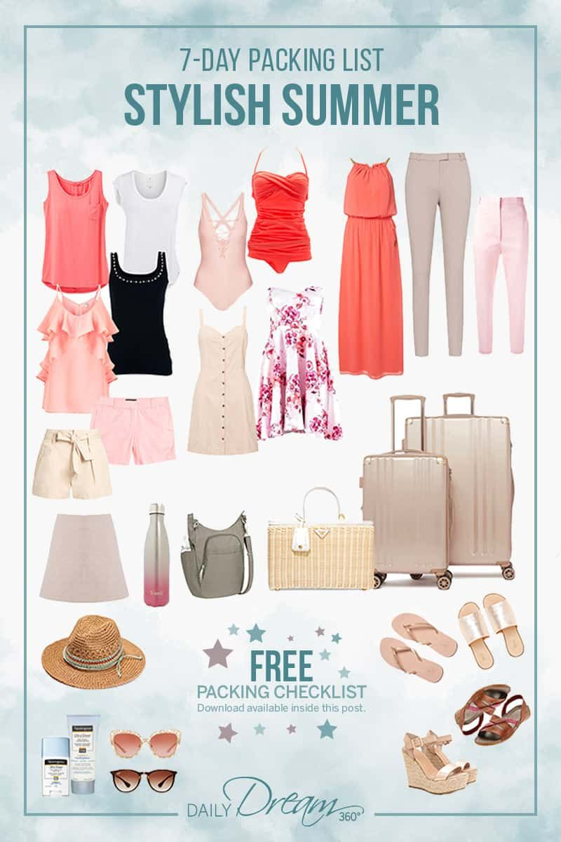 7-Day Stylish Summer Packing List (with Free Download)