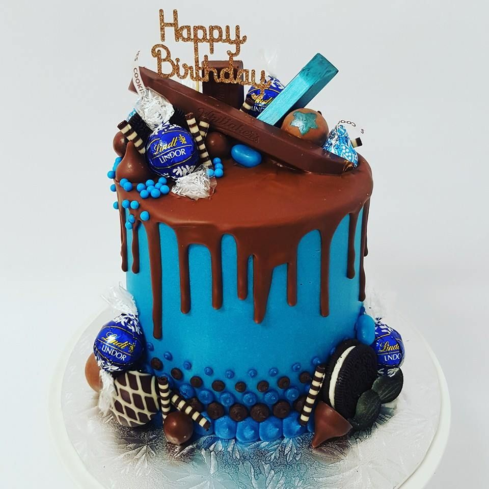 Blue Overload with Chocolate Drip | Drip Cakes | Pinterest | Drip ...