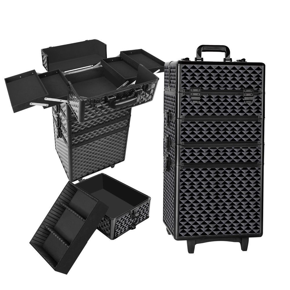 4 in 1 Portable Beauty Make up Cosmetic Trolley Case