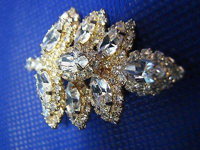 Vintage EISENBERG ICE BROOCH Original Mark Gold-rtone Pin STUNNING Jewelry