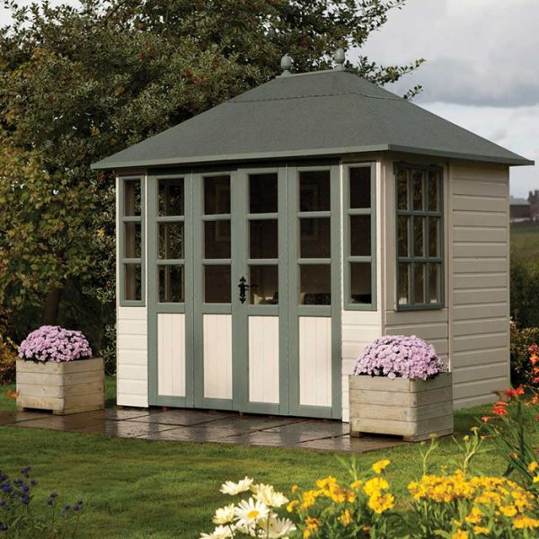 rowlinson 9 x 7 chatsworth summer house httpwwwsheds - Garden Sheds 7 X 9