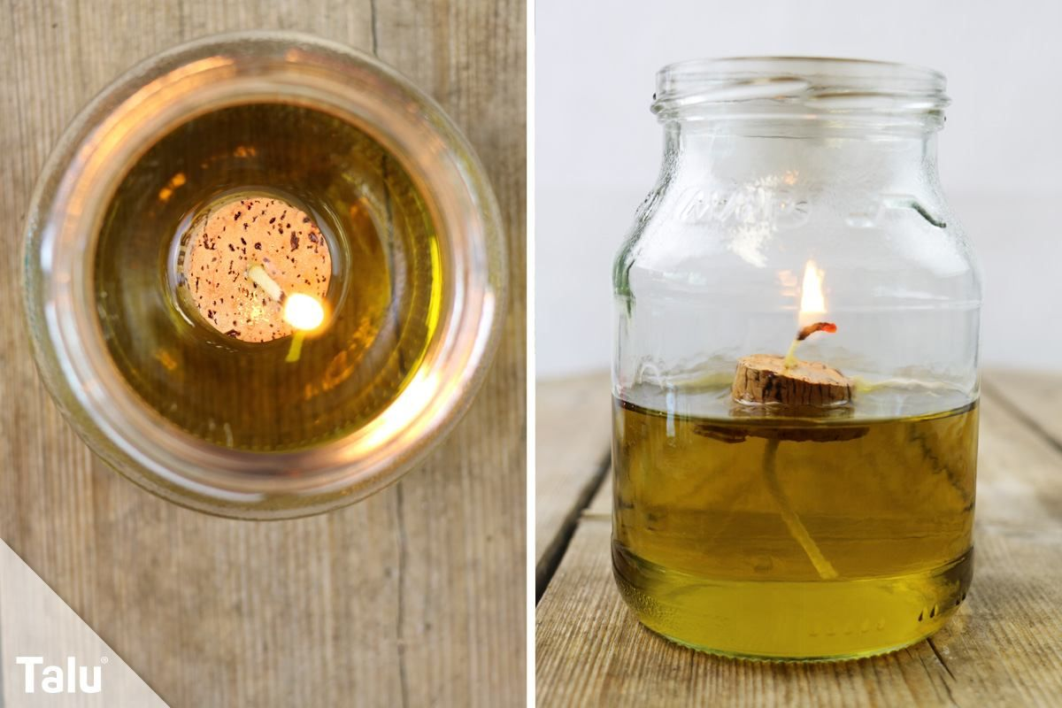Kerzendocht selber machen Docht für Öllampen herstellen